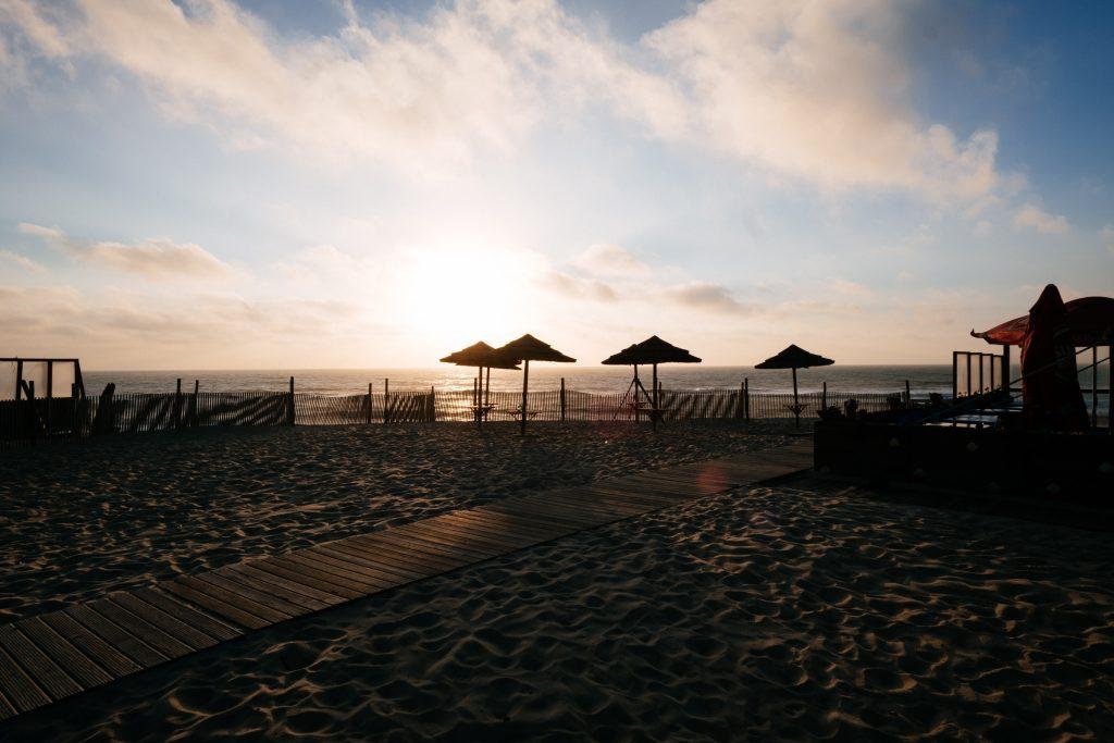 Portugal - Couché de soleil sur la plage de Furadouro